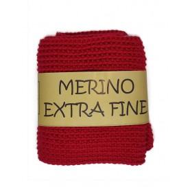 COWL MERINO EXTRA FINE RED