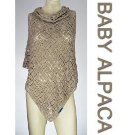 Shawl on Baby Alpaca and Mulberry Silk BEIGE