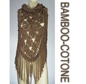 Shawl on bamboo and cotton BEIGE
