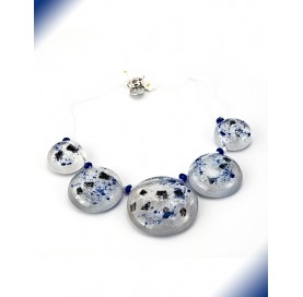 ANNA NECKLACE BLU AND WHITE