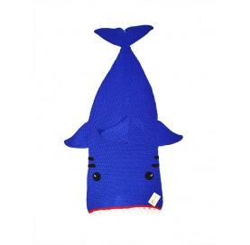 Shark Cocoon Blanket light blue