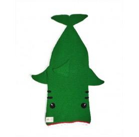 Shark Cocoon Blanket green