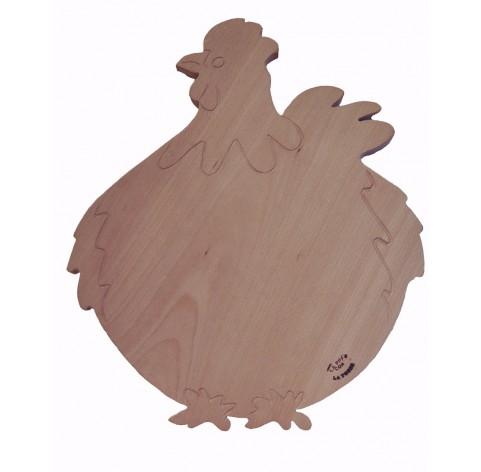 handmade Beech wood chopping board on Hen shape
