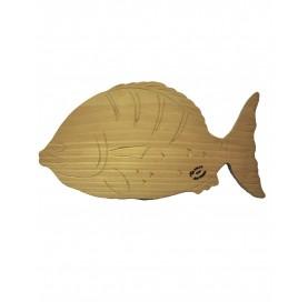 handmade Beech wood chopping board on Fish shape