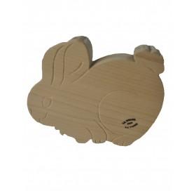 handmade Beech wood chopping board on Rabbit shape