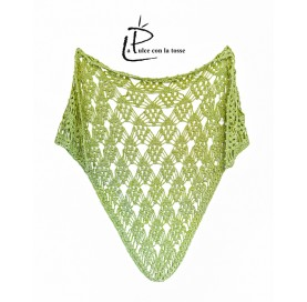 Shawl on bamboo and cotton GREEN