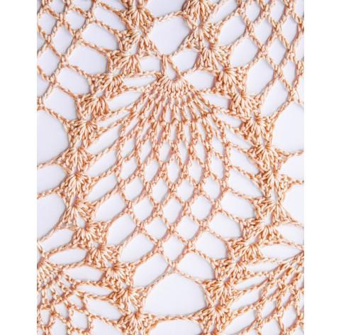 handmade crochet Shawl on bamboo 100%