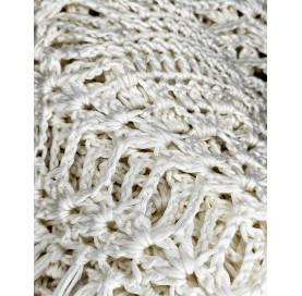 handmade crochet Shawl on bamboo 100% WHITE