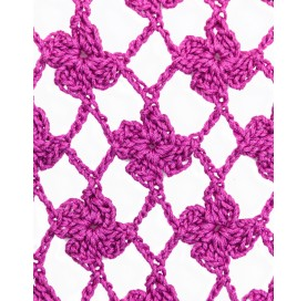handmade crochet shawl on corn fiber PINK